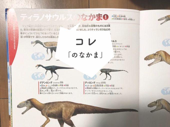 恐竜図鑑のひらがなとカタカナ